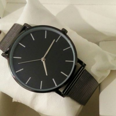 Женские наручные часы Geneva Black&Chrome edition