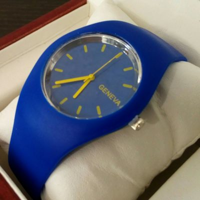 Спортивные мужские и женские каучуковые часы Geneva