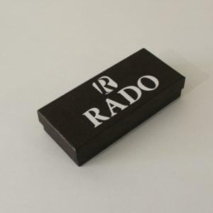 Фирменная картонная коробка для наручных часов Rado