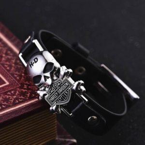 Кожаный браслет на руку H-D Harley Davidson