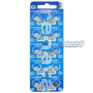 RENATA 315 блистер Батарейка (цена за 1 батарейку)