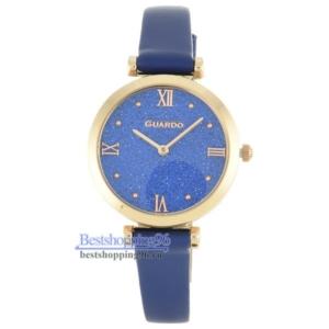Женские наручные часы Guardo 12333-5 корп-роз циф-син рем син