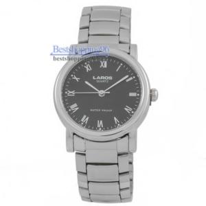 Наручные часы LAROS 73473 браслет, корп-хром, циферблат-черный