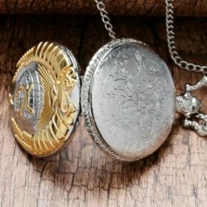 Карманные часы на цепочке с гербом СССР, Серп и Молот