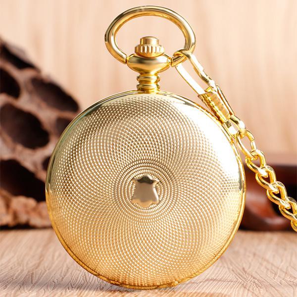 Механические карманные часы с римскими цифрами на крышке