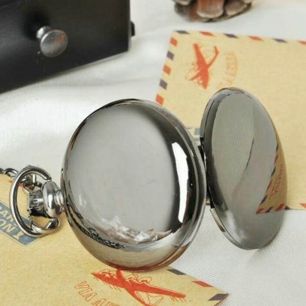 Карманные часы на батарейке полностью зеркальные