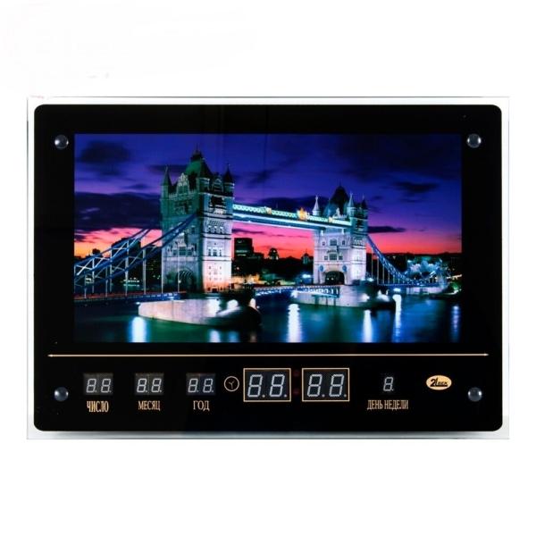 Картина с подсветкой с инф. календарем, Тауэрский мост (32х45см)