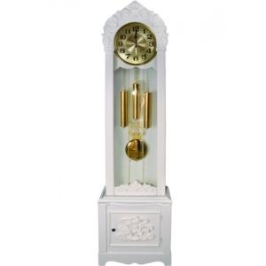 Напольные деревянные часы с маятником и мелодией Sinix 509-es-w
