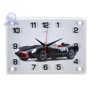 Часы настенные 21 век Спорткар черный 2535-1044