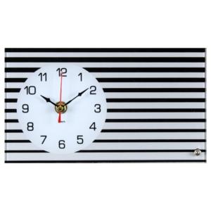 Настольные часы 21 век 1322-01 горизонтальные, серые, Полосы