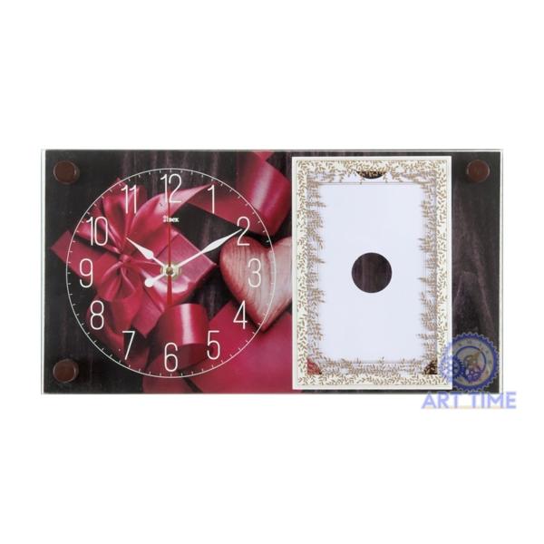 Настольные часы 21 век с фоторамкой 1732-1004, Подарок от сердца