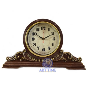 Настольные часы Рубин 4225-003, корпус коричневый с золотом Классика, размеры 43х25 см