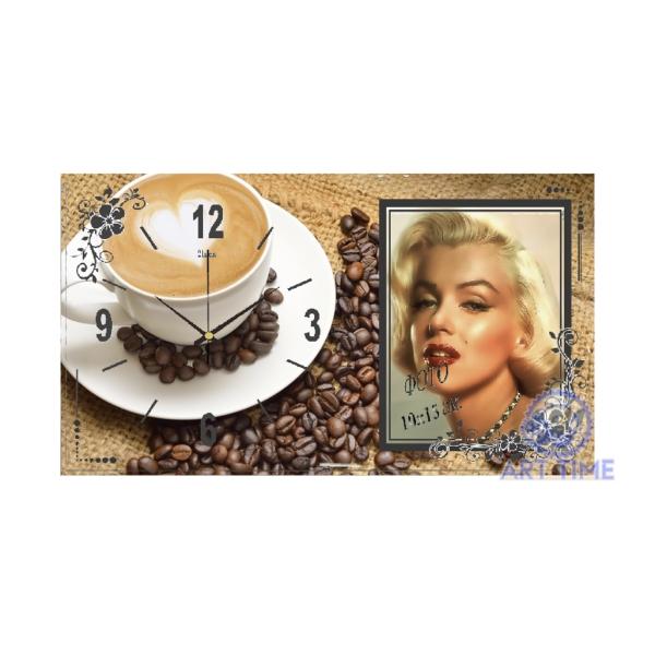 Настольные часы с фоторамкой 21 век 1732-571, Чашечка любимого кофе