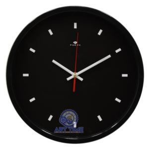 Часы настенные Рубин круг d=30см, корпус черный Классика 3027-135 (10)