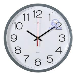 Настенные часы Рубин круг d=30см, корпус серый Классика 3027-121Gr (10)