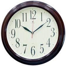 Настенные часы Рубин круг d=35см, рама коричневая Классика в полоску 3527-126Br (10)