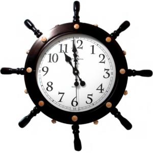 Настенные часы в форме штурвала Михаил Москвин 608862