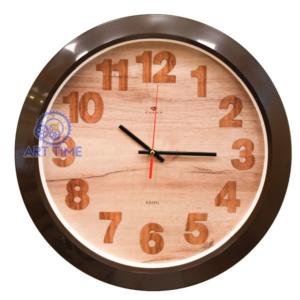 Настенные часы круг d=38,5см, корпус темно-коричневый Эко 3960-107 (10)