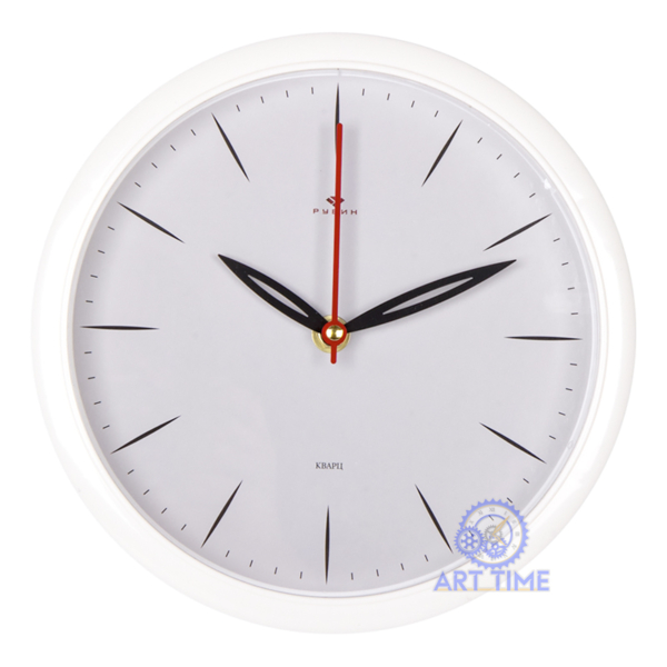 Настенные часы Рубин круг d=22см, корпус белый Классика 2222-351