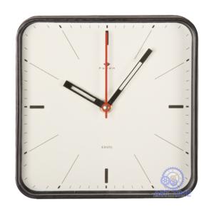 Настенные часы Рубин квадрат 19х19см, корпус черный Классика 1918-001