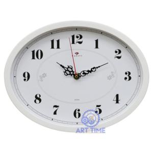 Настенные часы Рубин овал 22,5х29см, корпус серый Классика 2720-103Gr